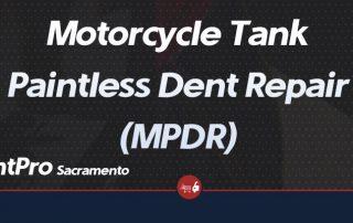 Motorcycle Tank Paintless Dent Repair MPDR