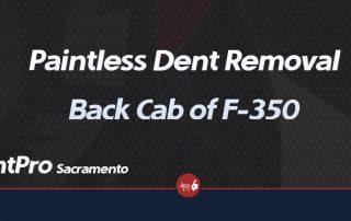 Paintless Dent Repair Back Cab of F-350