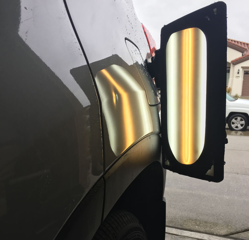 Paintless Dent Repair on Quarter Panel on Toyota Highlander in Roseville, CA - DentPro of Sacramento