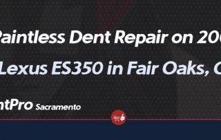 Paintless Dent Repair on 2008 Lexus ES350