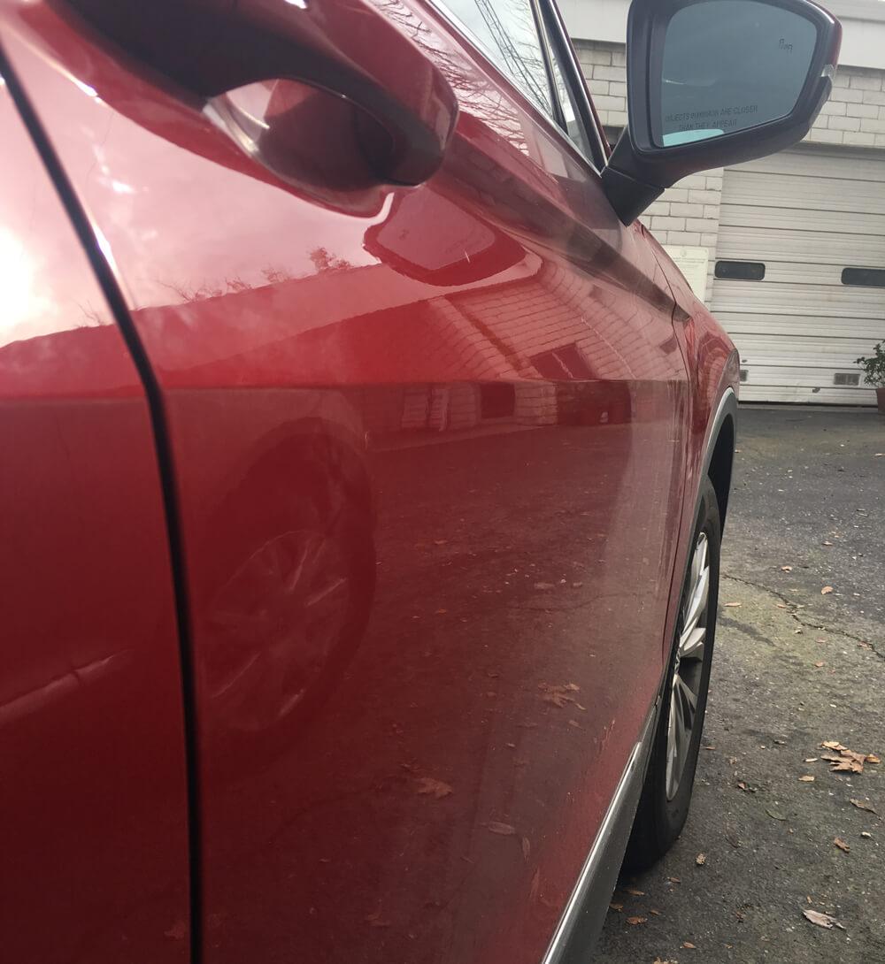 Paintless Dent Repair on VW Tiguan in Sacramento