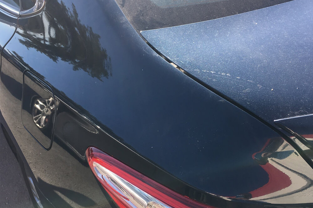 Paintless Dent Repair on a Toyota Camry in Sacramento